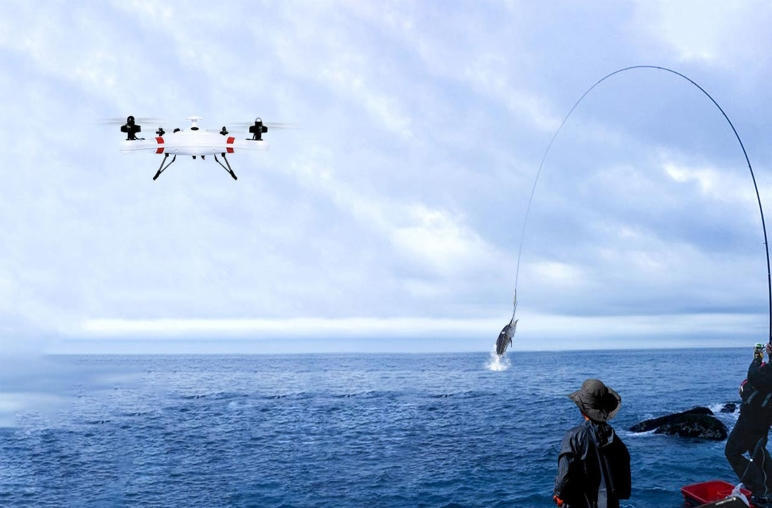 Amazing Story: An Australian Guy Fish a Big Tuna with Drones