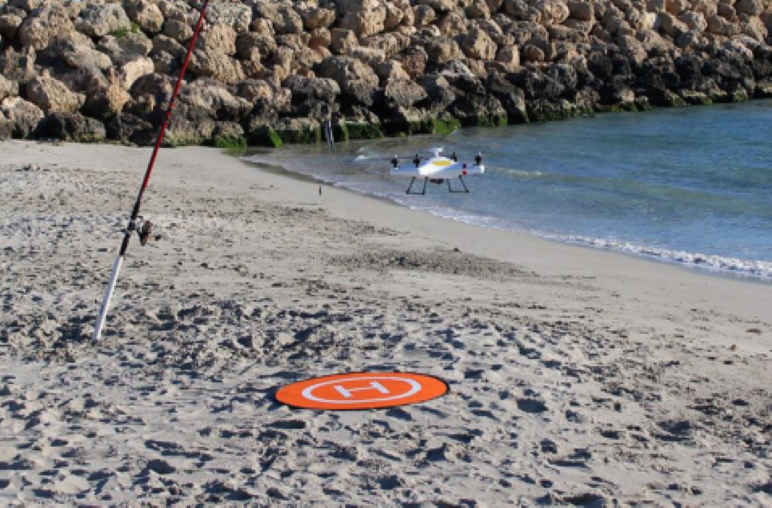Drone Beach Fishing - Just Wait for Big Fish Ashore
